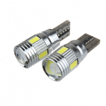 CANBUS LED ЛАМПА ТИП T10-6 smd 5630 + лупа